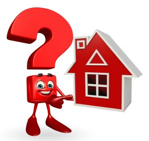 Question Mark character with home